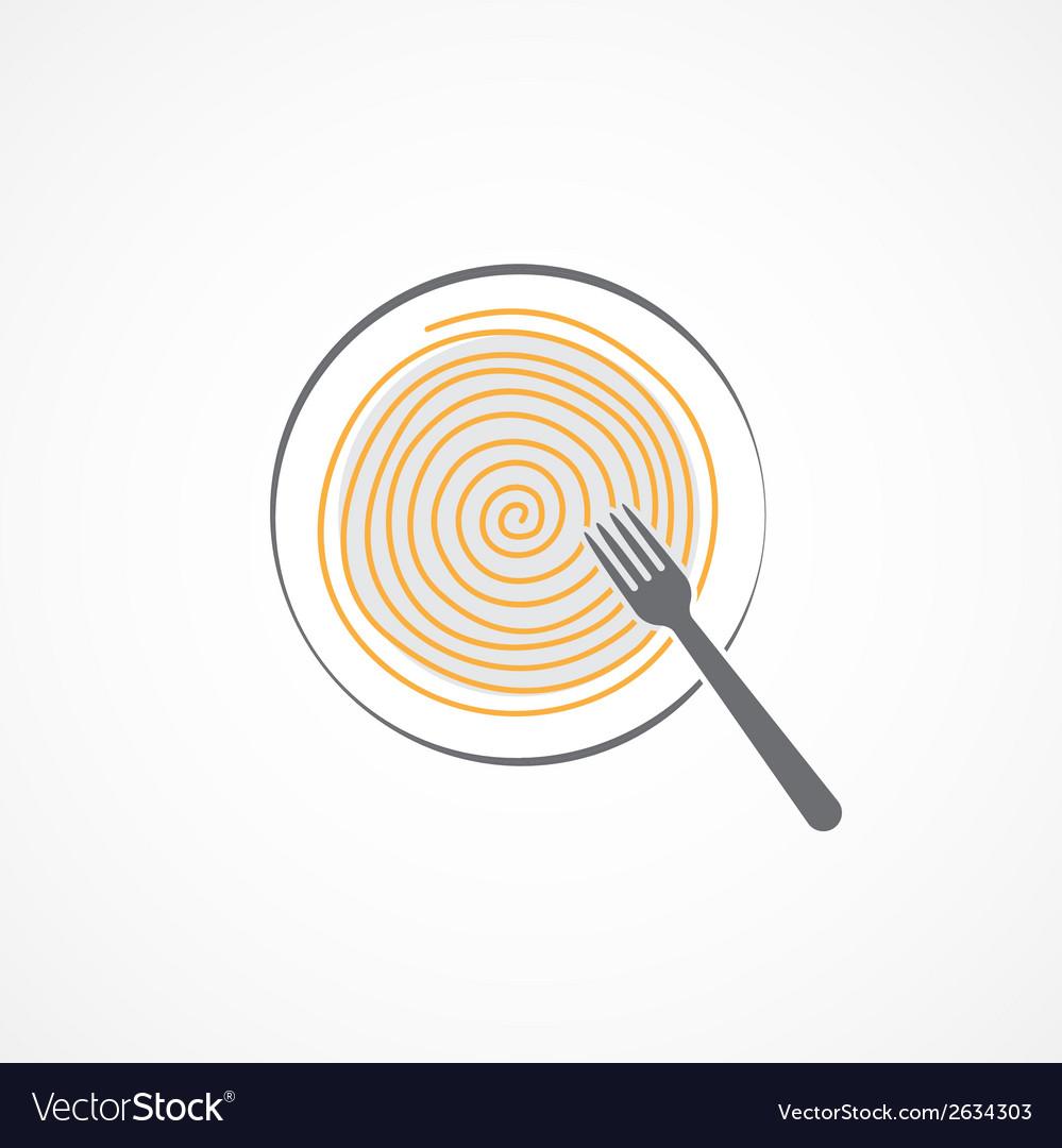Spaghetti icon vector | Price: 1 Credit (USD $1)