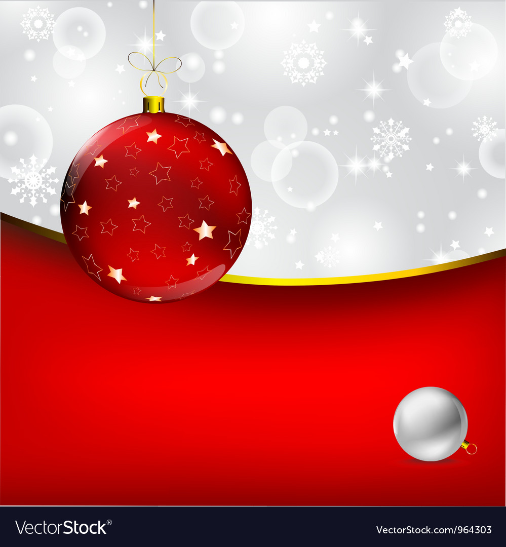 Stylish christmas bauble background vector | Price: 1 Credit (USD $1)