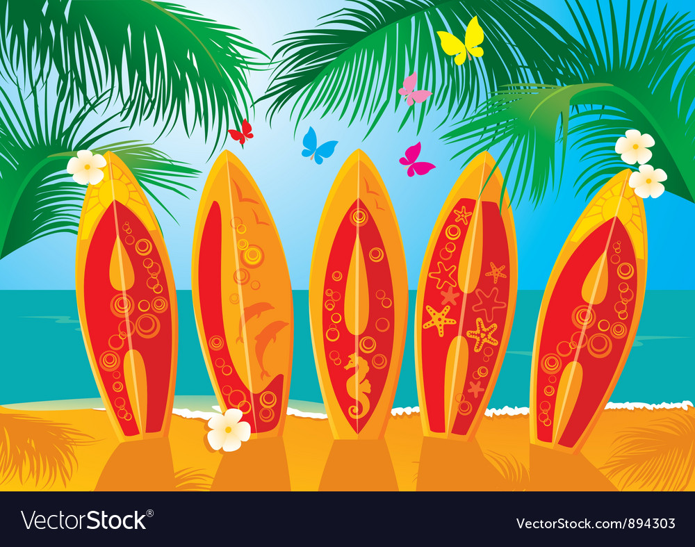Summer holiday postcard vector | Price: 3 Credit (USD $3)