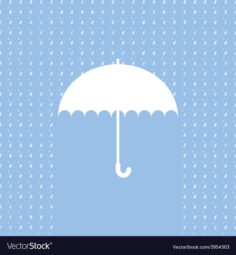White umbrella symbol on blue background vector | Price: 1 Credit (USD $1)