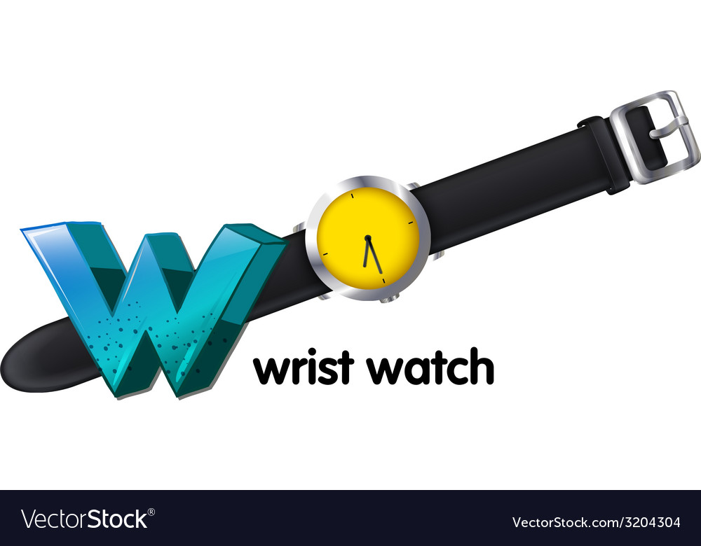 A letter w for wrist watch vector | Price: 1 Credit (USD $1)