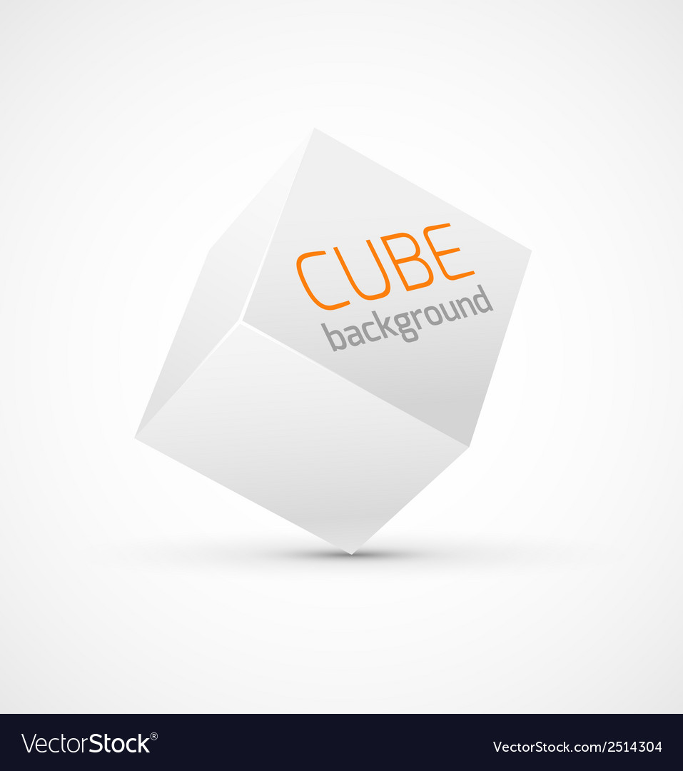 Abstract white cube background vector | Price: 1 Credit (USD $1)