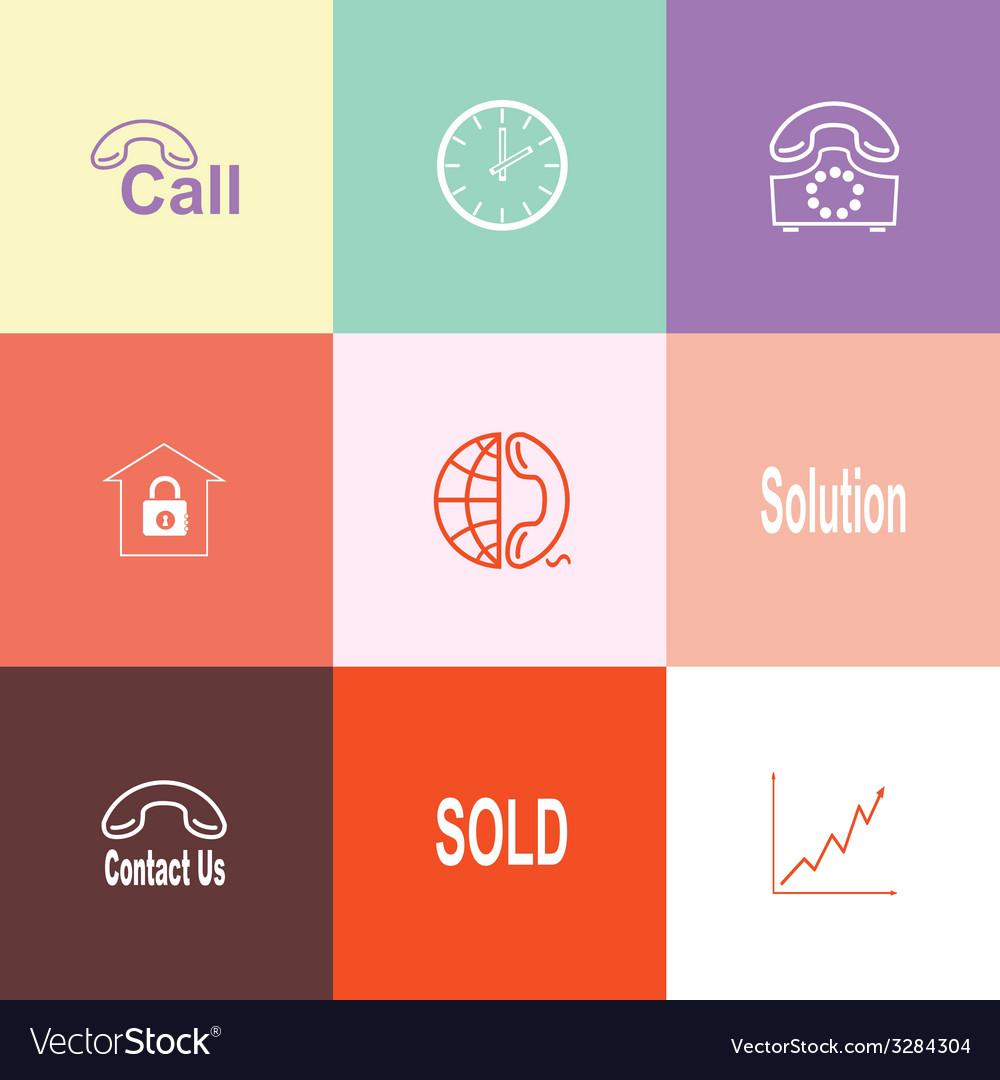 Business set vector | Price: 1 Credit (USD $1)