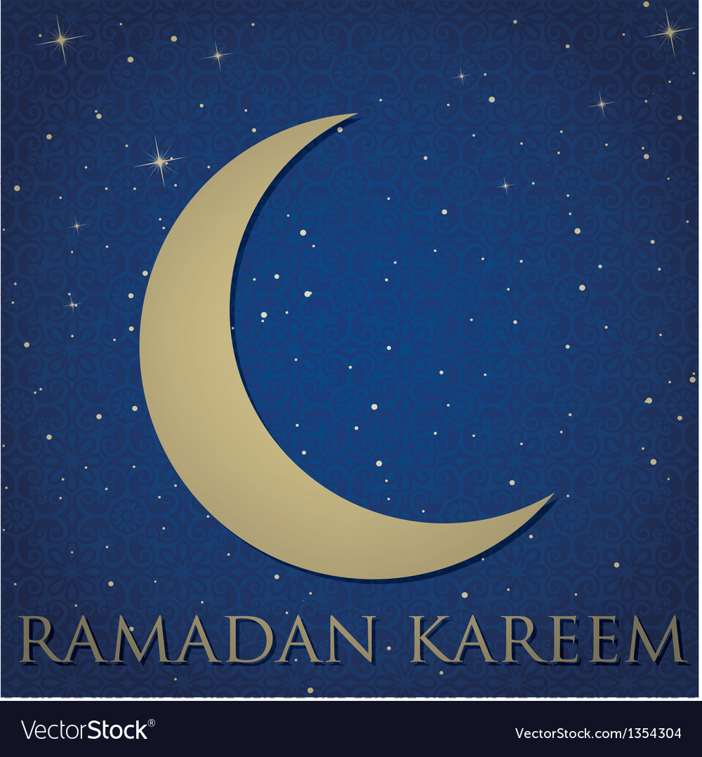 Crescent moon for ramadan vector | Price: 1 Credit (USD $1)