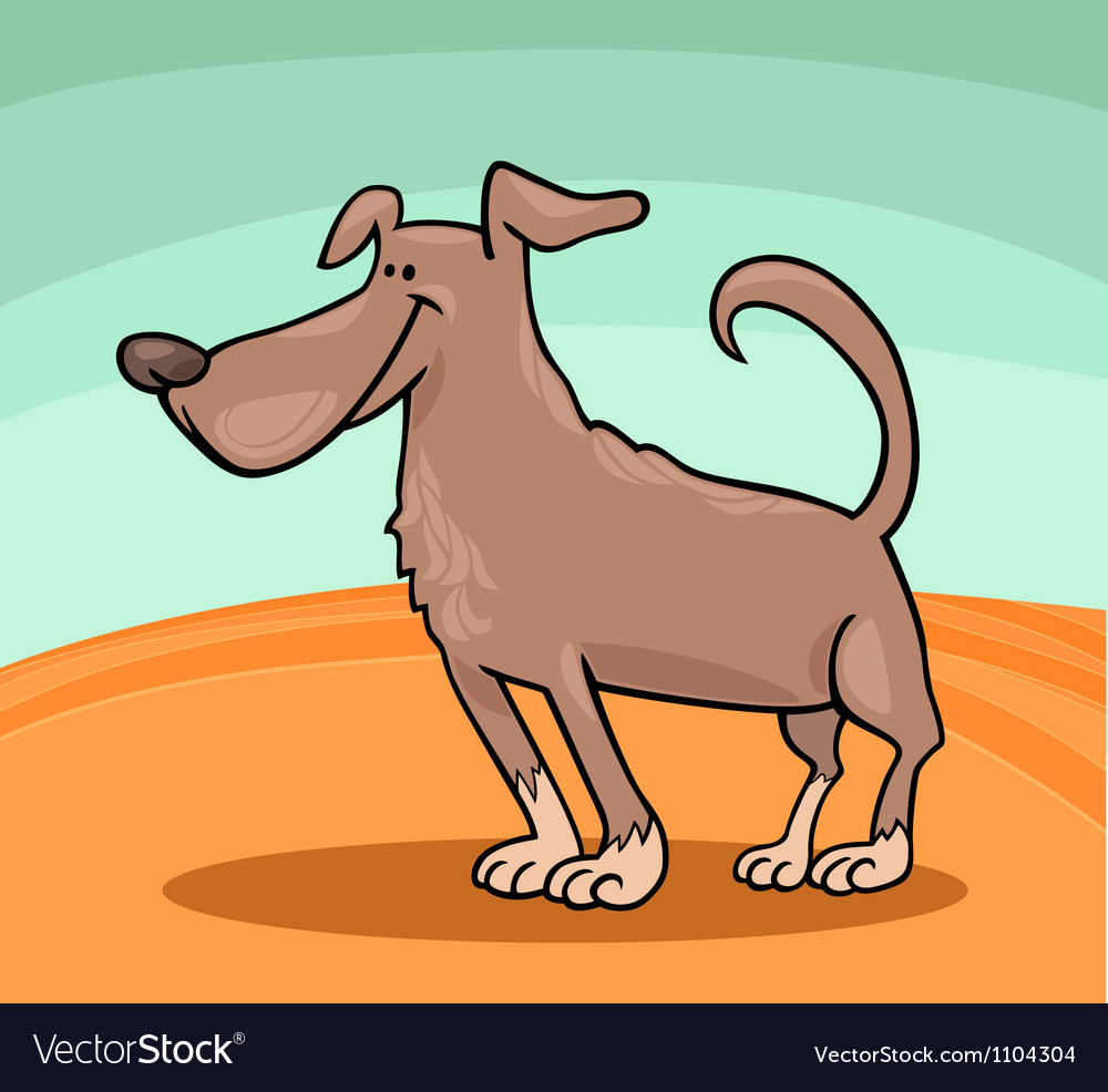 Cute dog cartoon vector | Price: 1 Credit (USD $1)