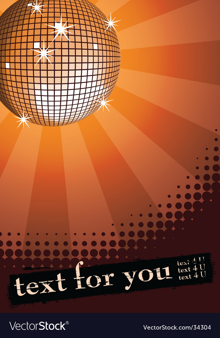 Disco ball banner vector | Price: 1 Credit (USD $1)