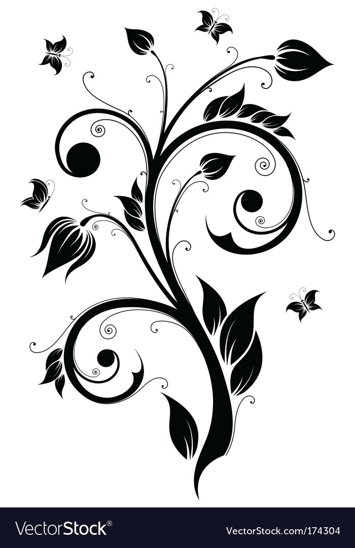 Floral design element illustration vector | Price: 1 Credit (USD $1)