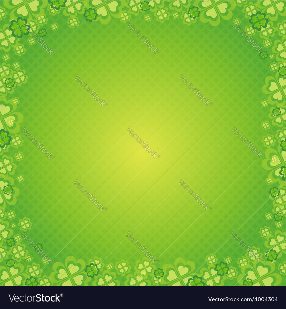 Green patrick background with shamrock vector | Price: 1 Credit (USD $1)