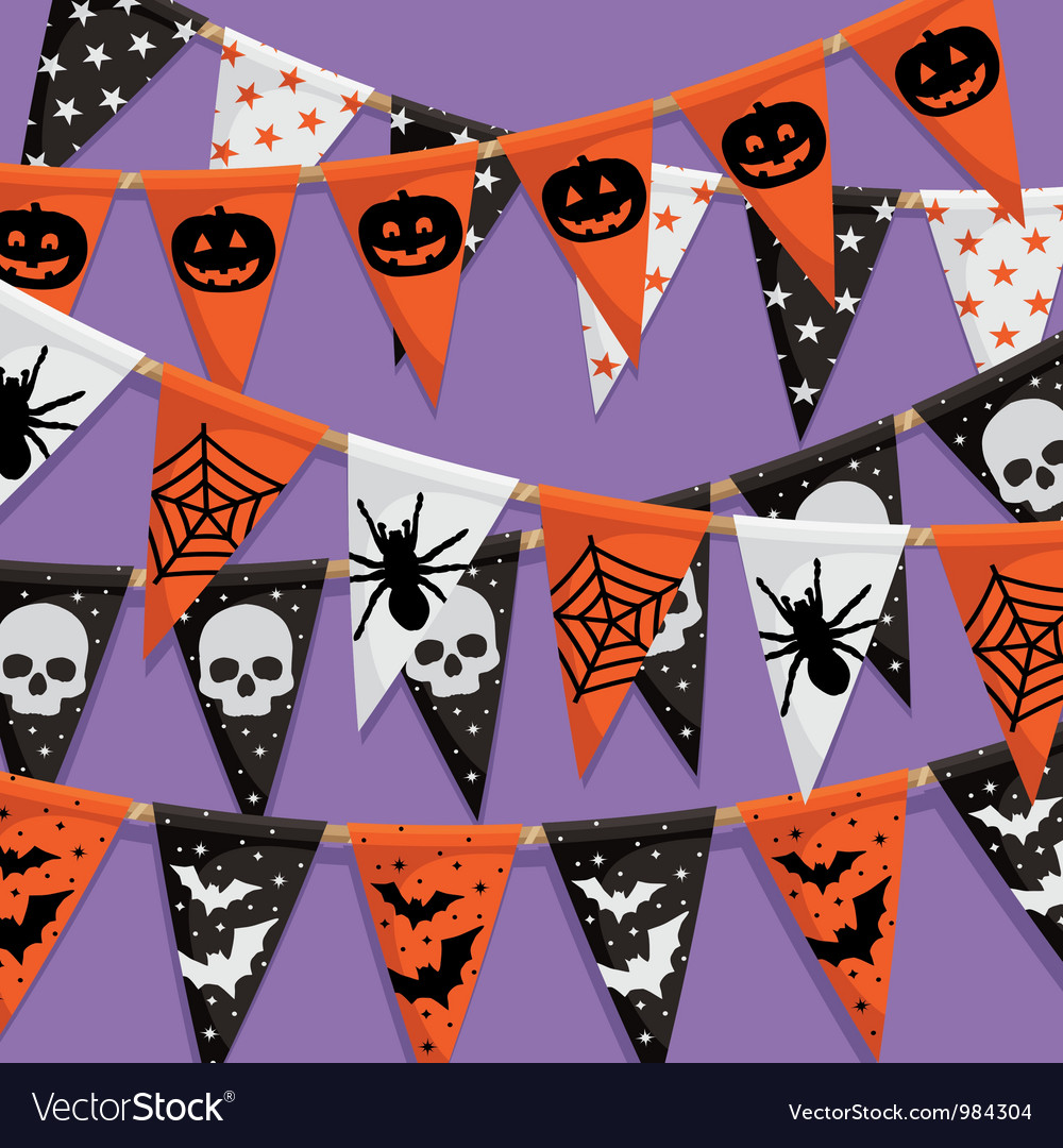 Halloween bunting background vector | Price: 1 Credit (USD $1)