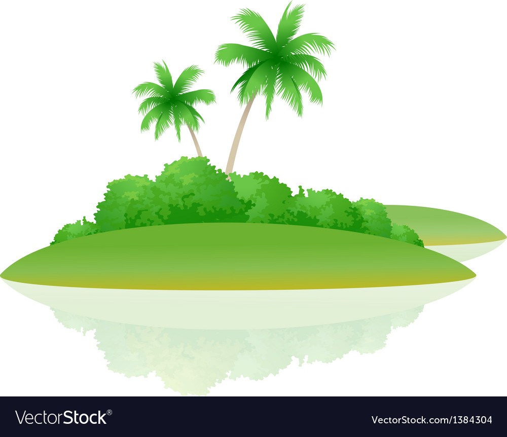 Icon island vector | Price: 1 Credit (USD $1)