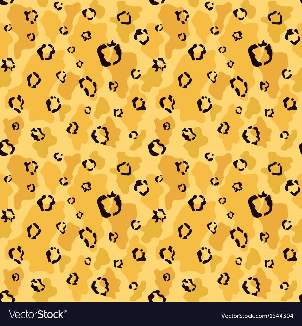 Leopard skin seamless pattern vector | Price: 1 Credit (USD $1)