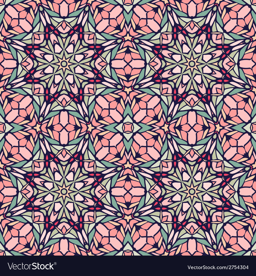 Seamless pattern with decorative ornament vector | Price: 1 Credit (USD $1)