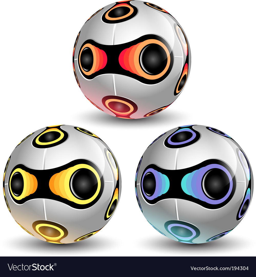Soccer balls vector | Price: 3 Credit (USD $3)