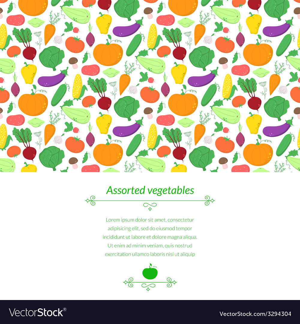 Vegetables background vector | Price: 1 Credit (USD $1)
