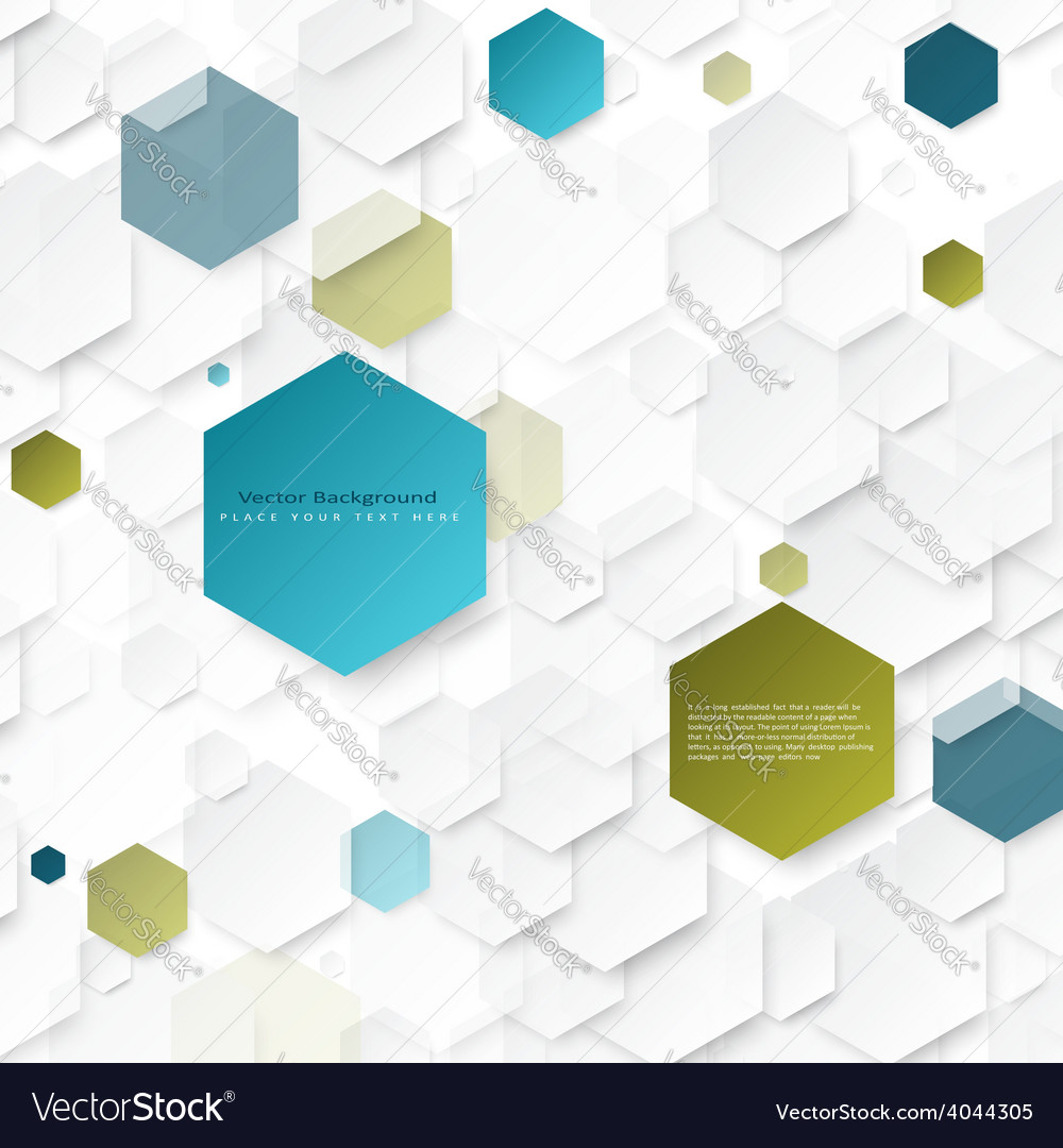 Abstract geometric background with hexagons vector | Price: 1 Credit (USD $1)