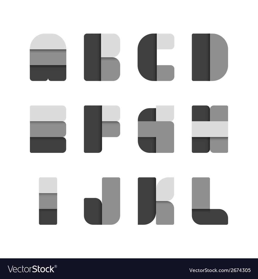 Alphabet set paper black colour style vector   Price: 1 Credit (USD $1)