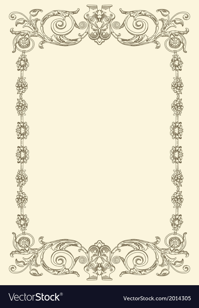 Classical vintage old frame design vector | Price: 1 Credit (USD $1)