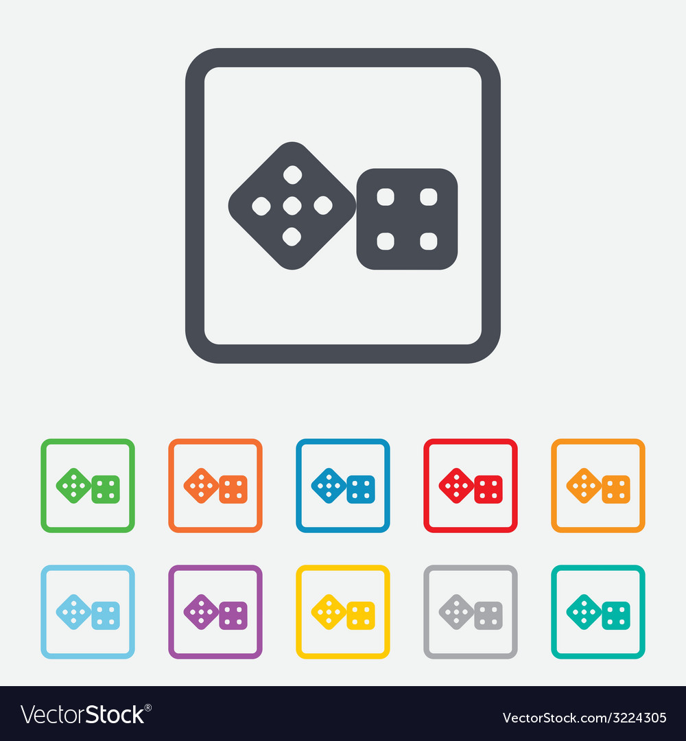 Dices sign icon casino game symbol vector | Price: 1 Credit (USD $1)
