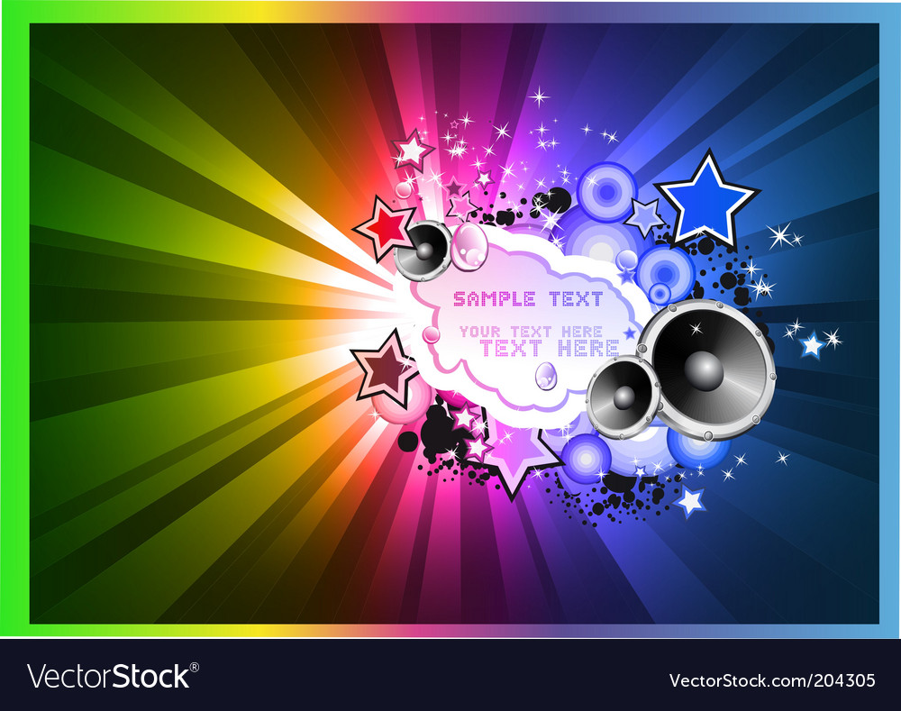 Disco background for flyers vector | Price: 3 Credit (USD $3)