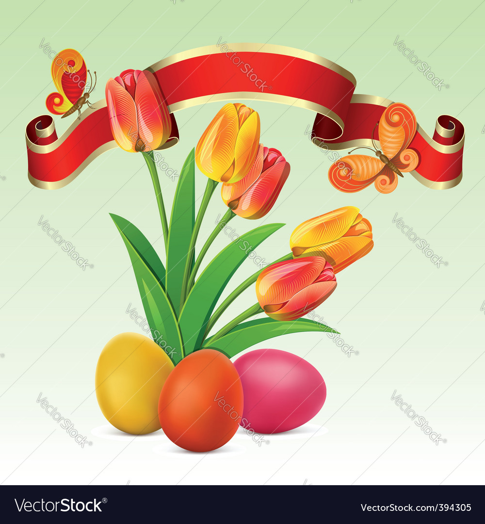 Easter background vector | Price: 3 Credit (USD $3)