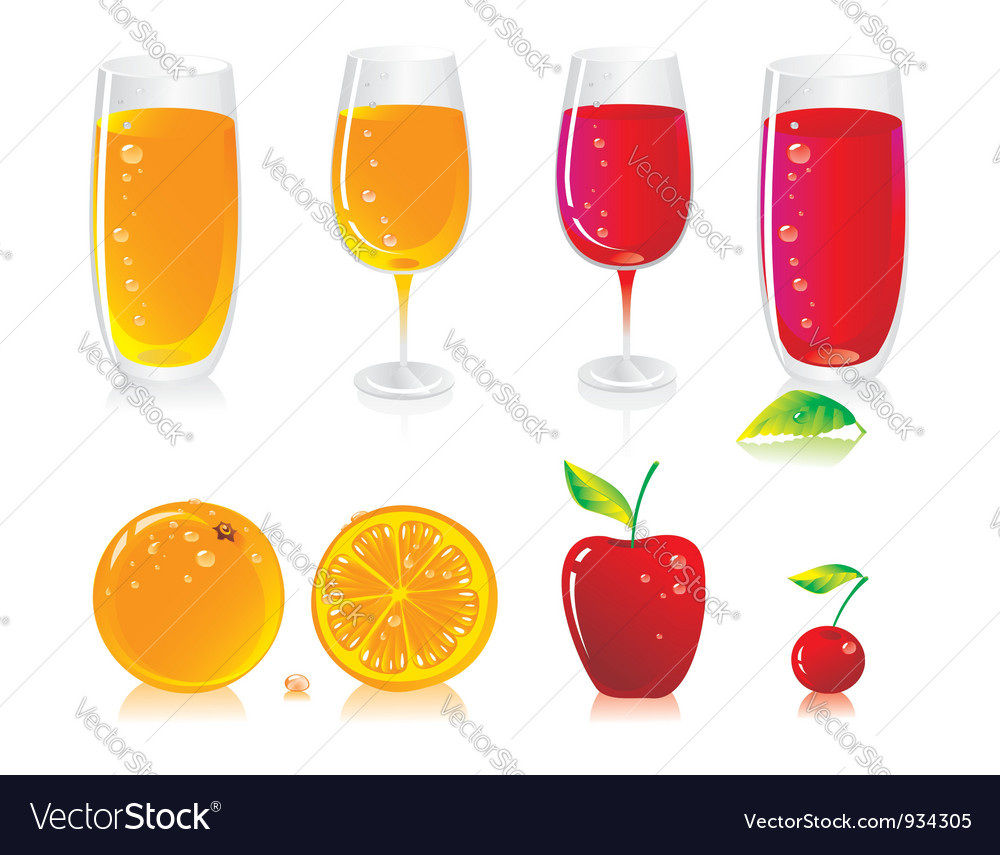 Fruit drinks vector | Price: 1 Credit (USD $1)