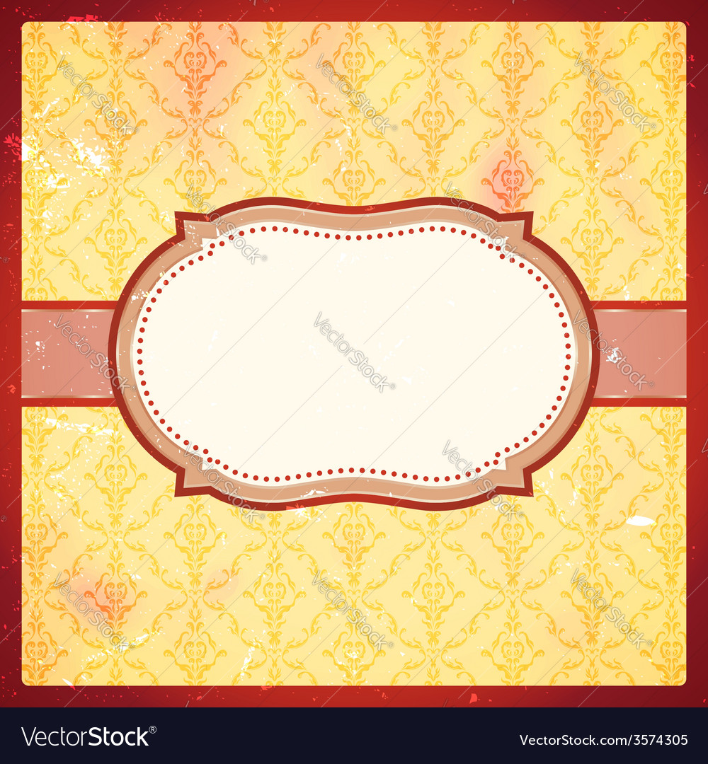 Grungy vintage frame vector | Price: 1 Credit (USD $1)