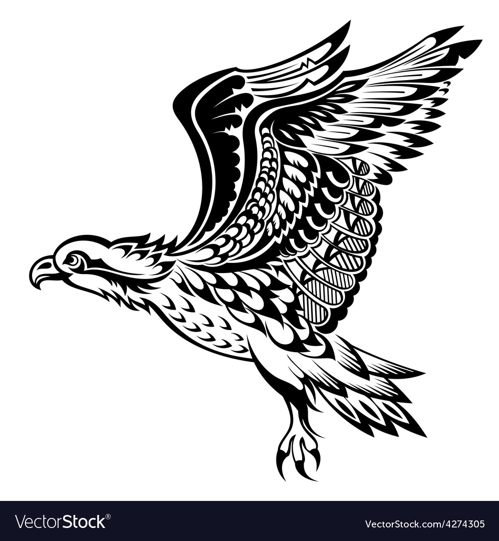 Hand drawn eagle vector | Price: 1 Credit (USD $1)