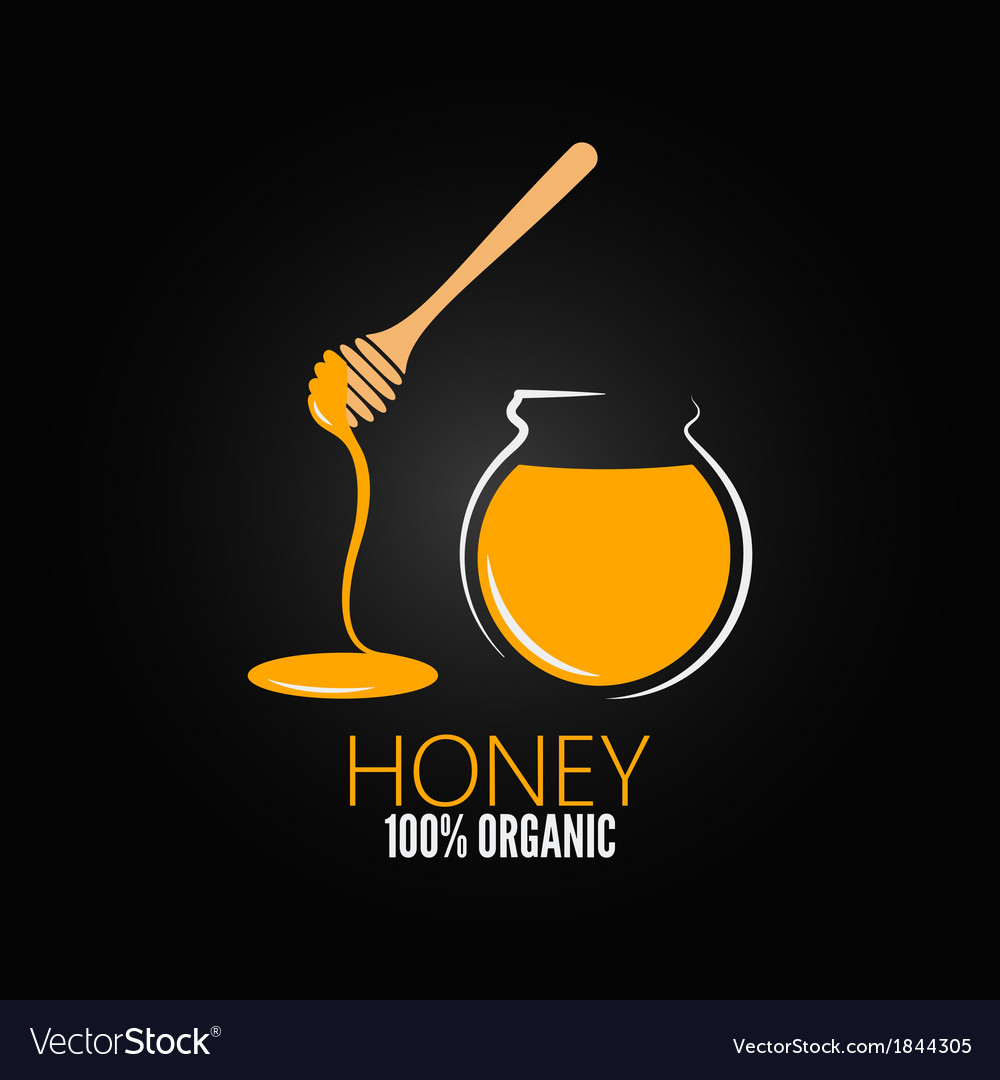 Honey jar pot glass design background vector | Price: 1 Credit (USD $1)