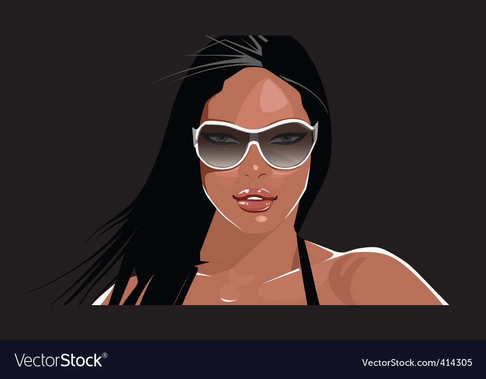 Party girl vector | Price: 3 Credit (USD $3)