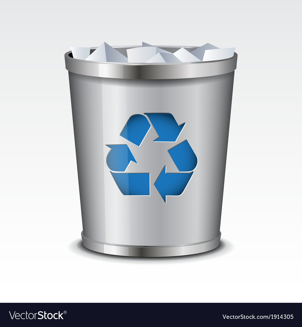 Recycle bin icon vector | Price: 1 Credit (USD $1)