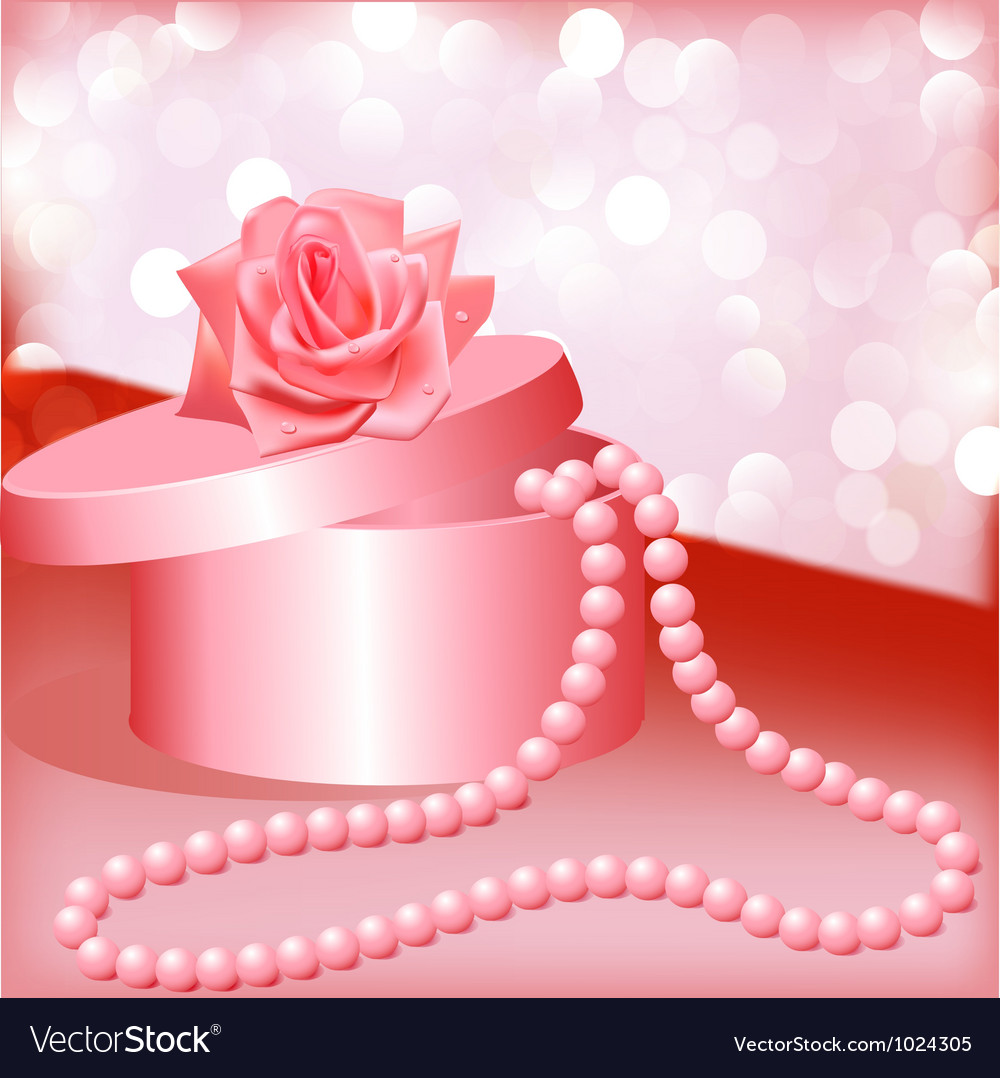 Rose pearl necklace vector | Price: 1 Credit (USD $1)
