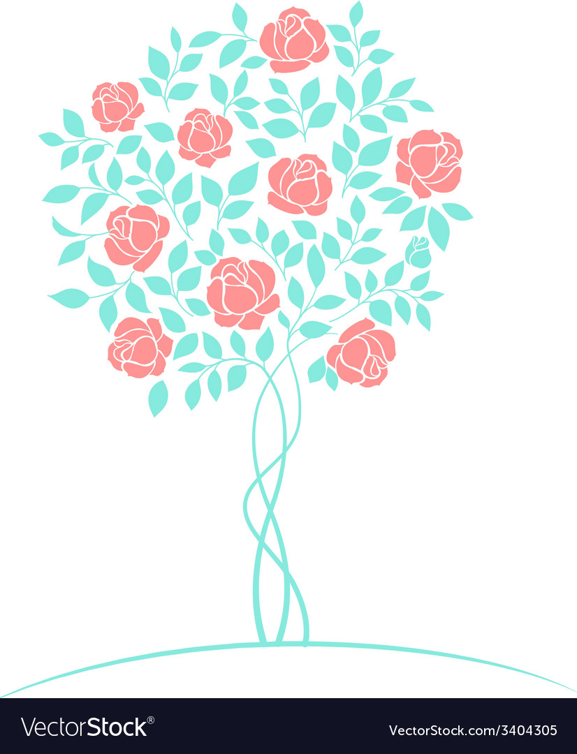 Rose tree logo vector | Price: 1 Credit (USD $1)