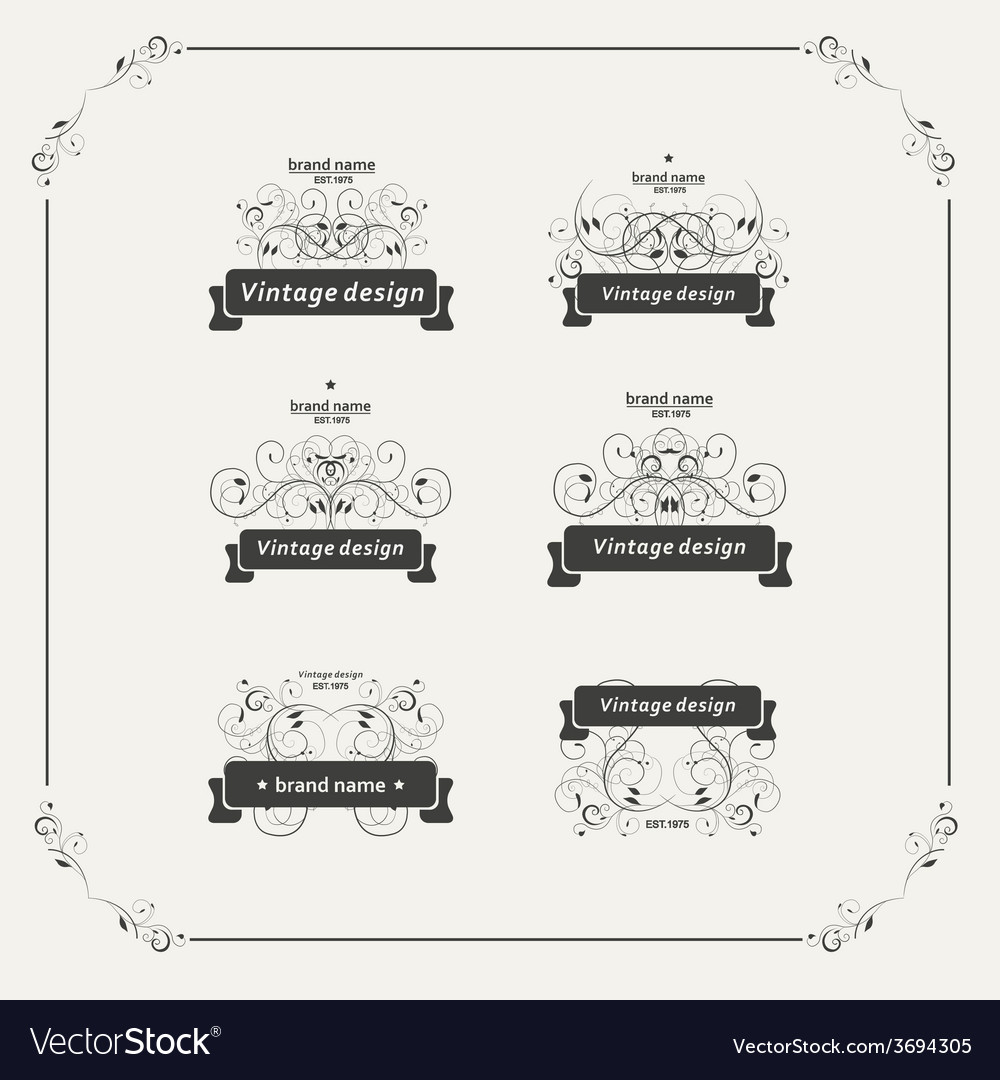 Set of vintage posters beautiful design vector | Price: 1 Credit (USD $1)