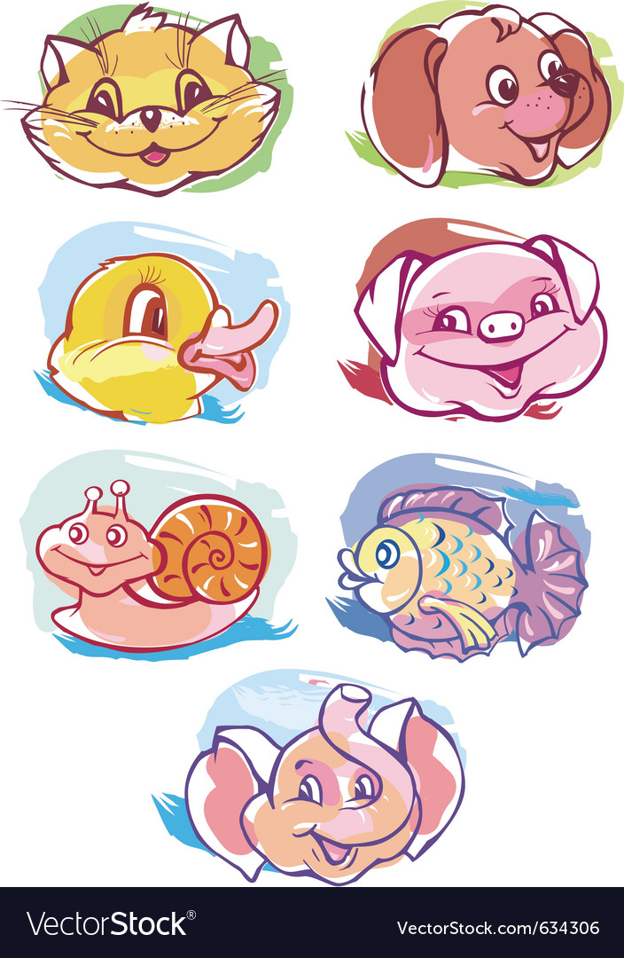 Animals cartoon vector | Price: 3 Credit (USD $3)