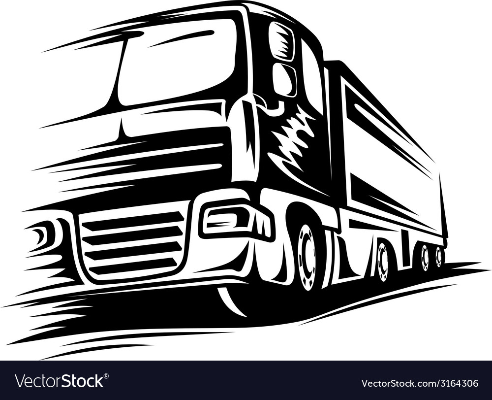Big moving truck vector | Price: 1 Credit (USD $1)
