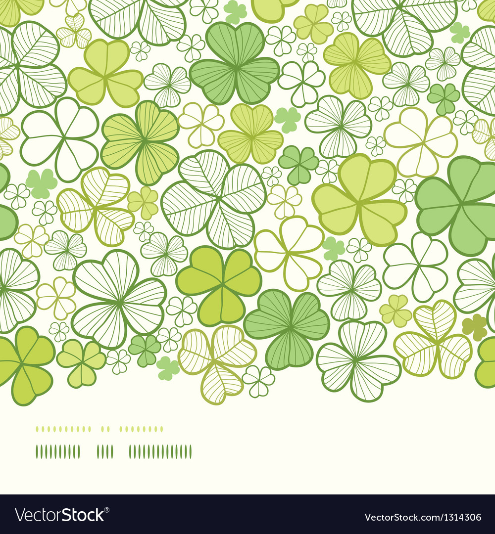 Clover line art horizontal decor seamless pattern vector | Price: 1 Credit (USD $1)