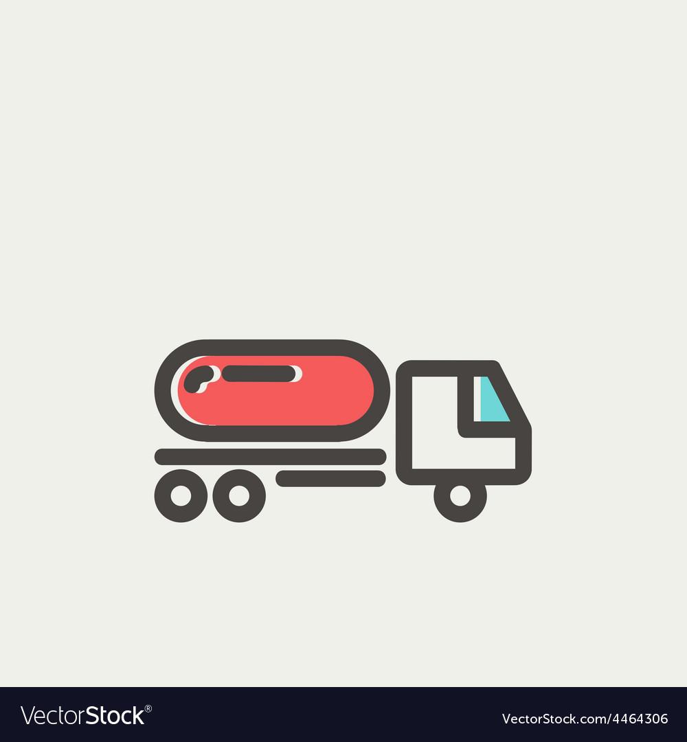 Fuel truck thin line icon vector | Price: 1 Credit (USD $1)