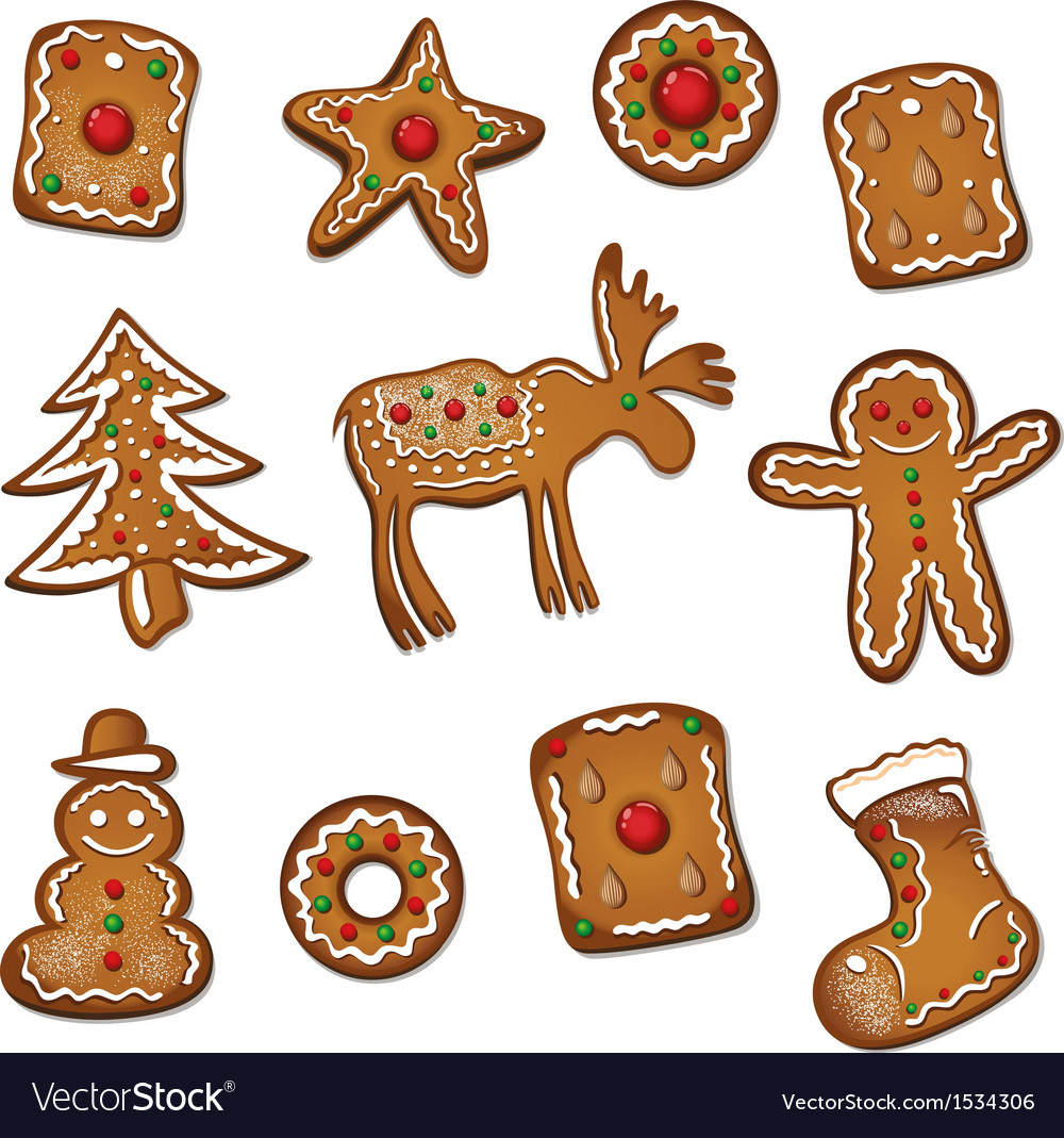 Gingerbread  cookie xmas vector | Price: 1 Credit (USD $1)