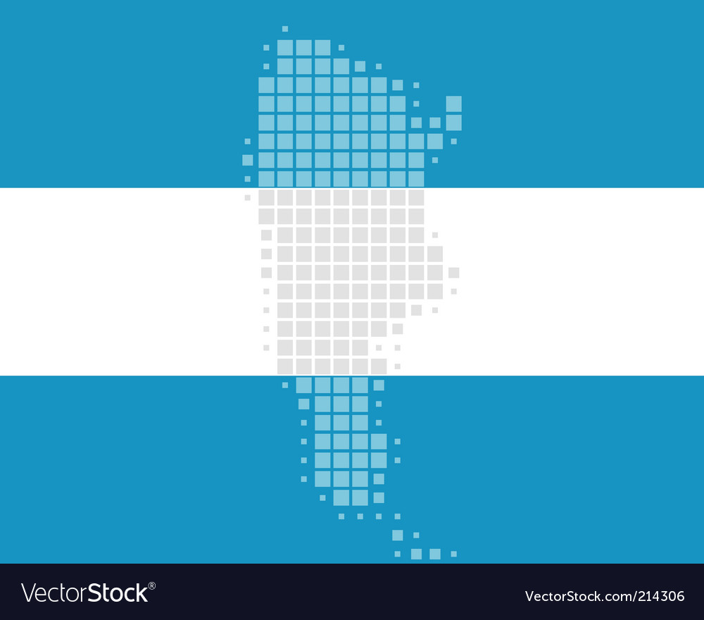 Map and flag of argentina vector | Price: 1 Credit (USD $1)