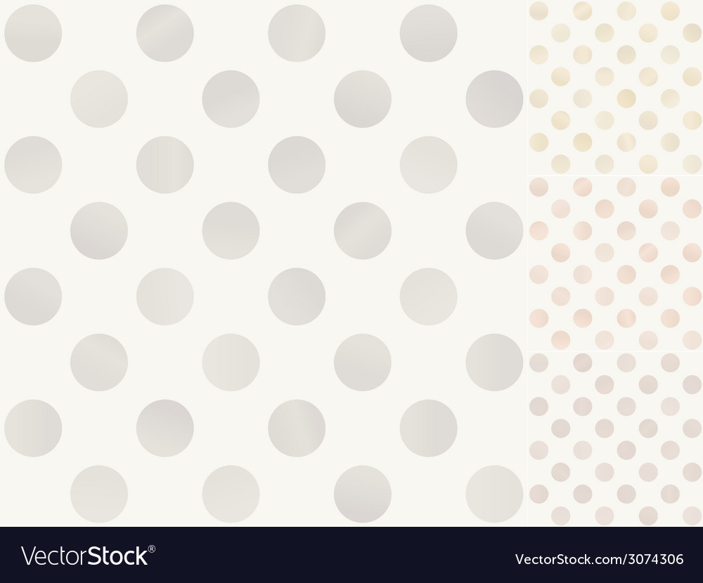 Seamless polka dots with silver gold bronze vector | Price: 1 Credit (USD $1)