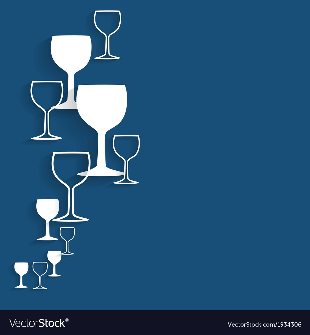 Silhouette alcohol glass vector | Price: 1 Credit (USD $1)