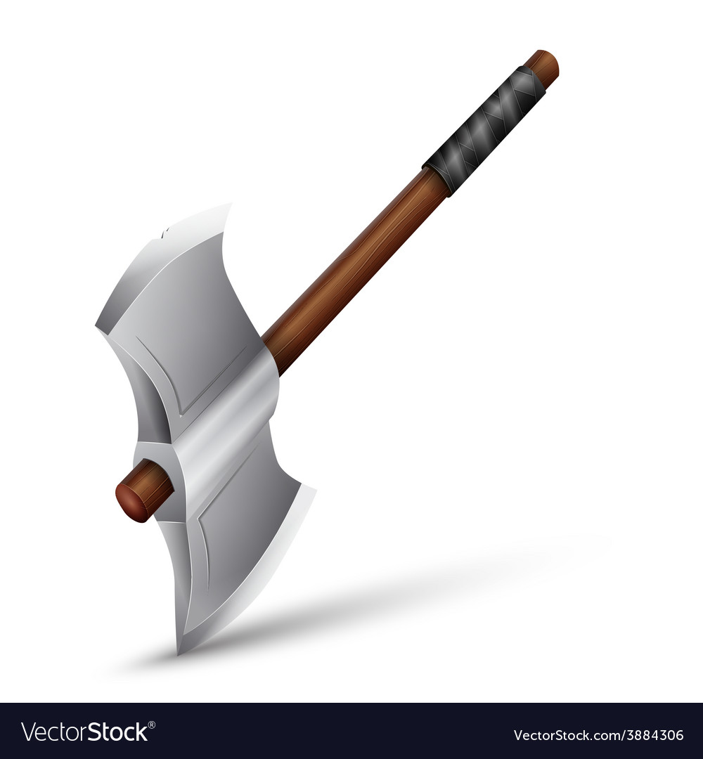 Stainless steel axe vector | Price: 1 Credit (USD $1)