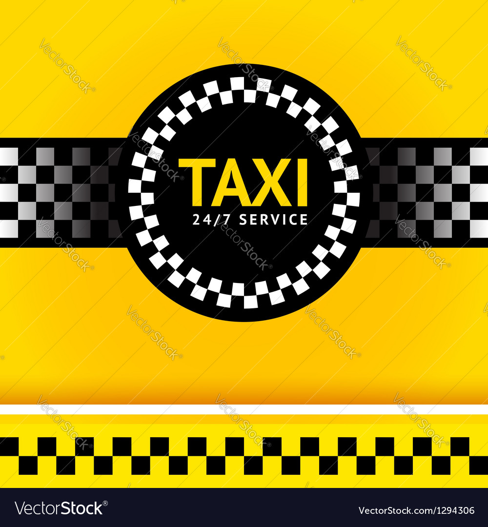 Taxi symbol square vector | Price: 1 Credit (USD $1)