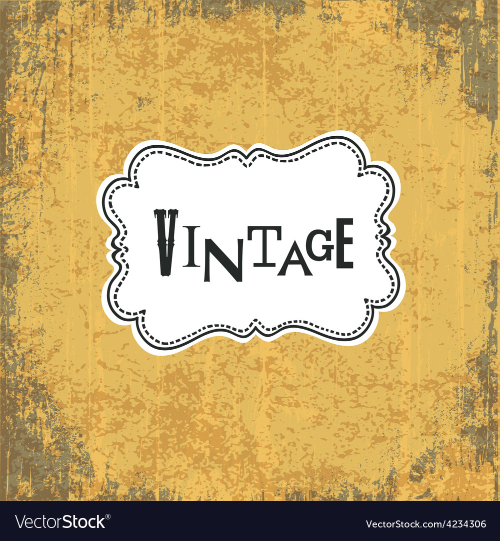 Vintage retro grungy card vector | Price: 1 Credit (USD $1)