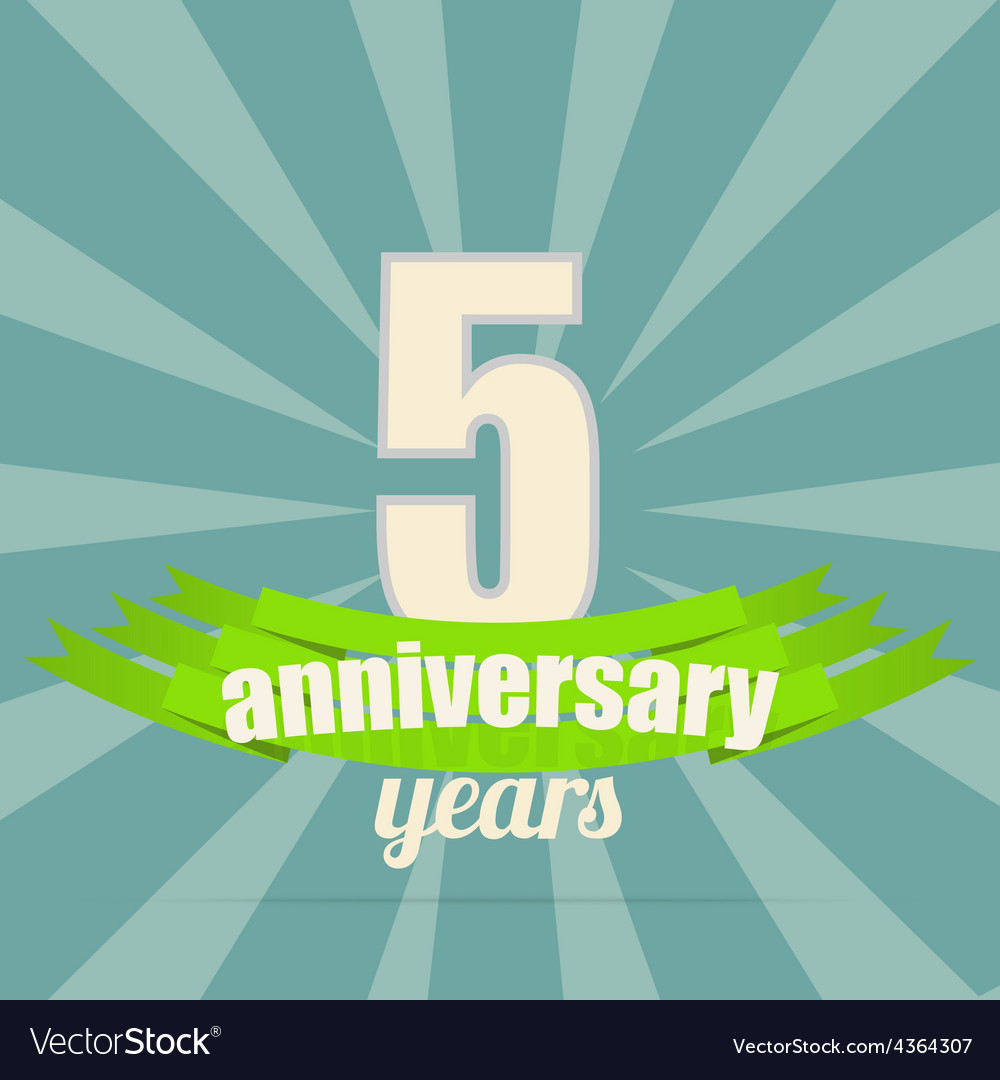 Anniversary emblem vector | Price: 1 Credit (USD $1)