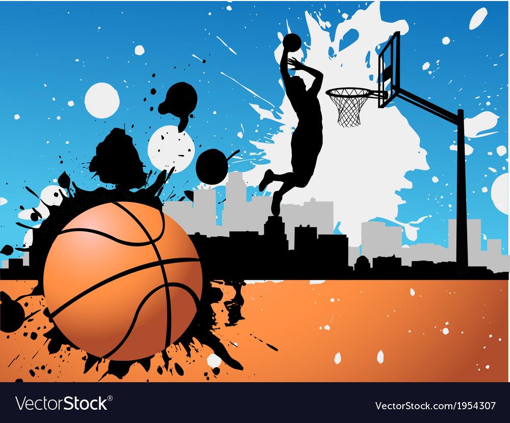 Artistic basketball vector | Price: 1 Credit (USD $1)