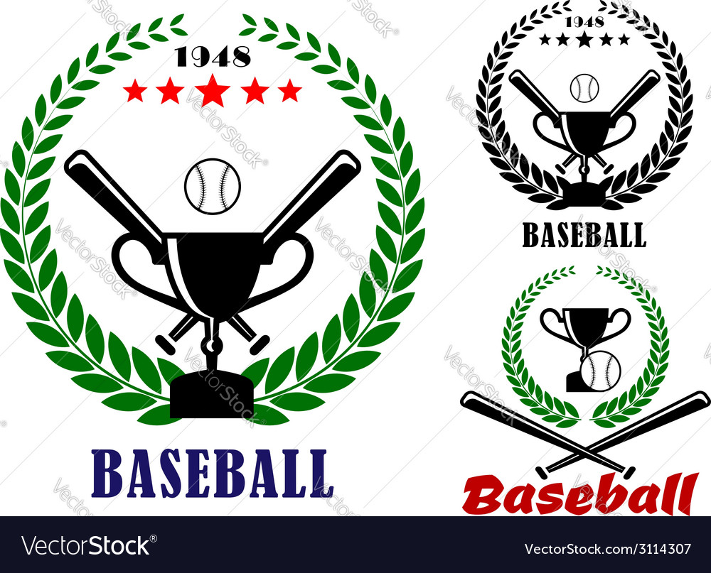 Baseball badges or emblems vector | Price: 1 Credit (USD $1)