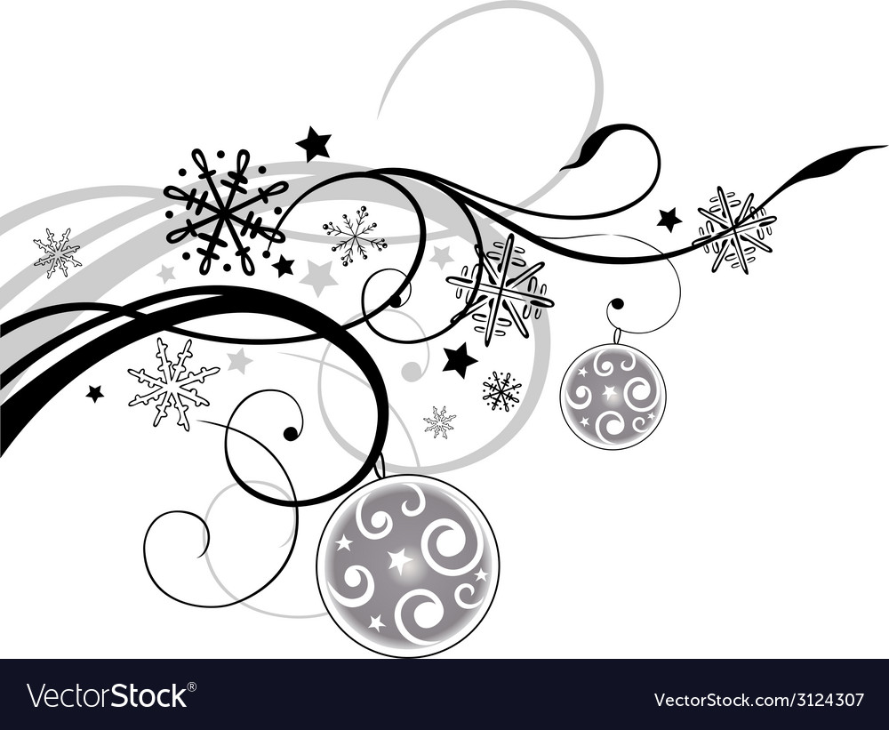 Christmas floral vector | Price: 1 Credit (USD $1)