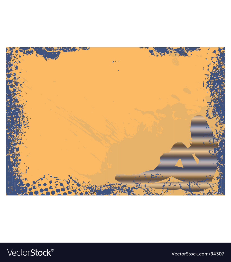 Grunge girl frame vector | Price: 1 Credit (USD $1)