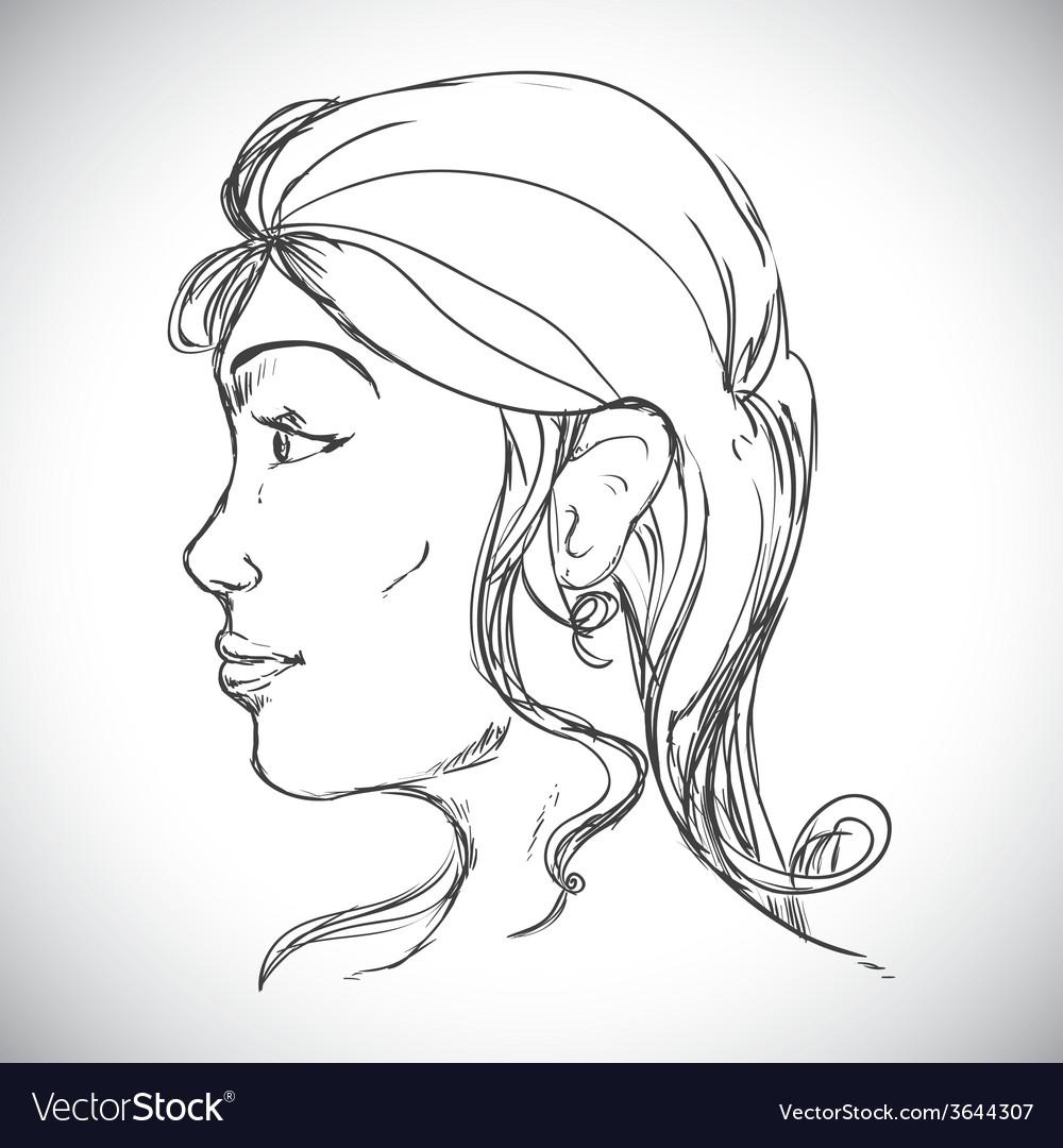 Human profile vector | Price: 1 Credit (USD $1)